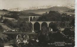 Eisenbahnbrücken über Die Sitter Bei Bruggen Mit Säntiskette Versand 1939 - SG St. Gall