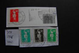 B064 - FRANKREICH FRANCE - 3134 / 2945 Usw Auf Briefstück - Used On Piece - France