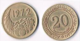 Algeria  20 Centimes 1972 - Algérie