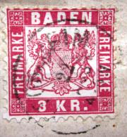 BADE             N° 24              OBLITERE - Baden