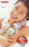 Télécarte JAPON * BIERE  (948) * BEER * FEMME * GIRL * TELEFONKARTE * JAPAN PHONECARD * BIERE * CERVEZA * - Advertising