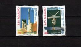 San Marino 1991 Space Europa CEPT Set Of 2 MNH - Space