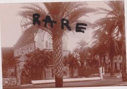EGLISE ANGLAISE,HYERES,1900,APRES CONSTRUCTION,VAR,ANGLICAN S SAINT PAUL CHURCH,NEOGOTHIQUE,PHOTO ANCIENNE,PROTESTANT - Lieux