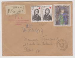 LETTRE RECOMMANDÉE PARIS 86 22 DÉCEMBRE 1964 CRF DIRECTION DE LA PROPAGANDE Y & T 1433 X 2 + 1424 - 2 Scans - - Marcophilie (Lettres)