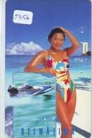 Télécarte Japon EROTIQUE (5356) EROTIC * Japan  EROTIK * BIKINI GIRL * BATHCLOTHES  * FEMME * SEXY LADY - Moda