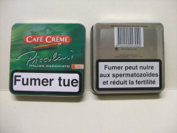 BOITE Métal Vide CAFE CREME PICCOLINI Italian Macchiato (20 Cigares) - Étuis à Cigares
