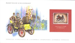 Peugeot Vis-a-Vis  (1895) -  20 X12 Cm Display Card With San Marino Stamp  -  MNH - Voitures