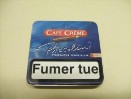 BOITE Métal Vide CAFE CREME PICCOLINI French Vanilla (20 Cigares) - Contenitore Di Sigari