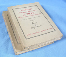 Mémoires Du Comte Alexandre De TILLY, Page De Marie-Antoinette / Jonquière éditeur En 1929 - Geschiedenis