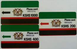 KENYA - Early Set - 2nd Print - Approx 1988 - Set Of 3 - Used - Kenya