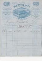 FACTURE BETTS ET CIE -USINE A FLOIRAC -GIRONDE - CAPSULES METALLIQUES DE BOUTEILLES -1871 - 1800 – 1899