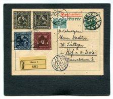 Austria Registered Postcard  1932 - Usati