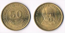 Peru 50 Centimos 1985 - Perú