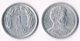 Chile  1 Peso 1957 - Chile