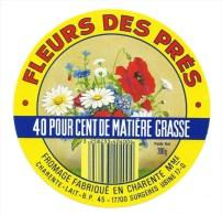 Etiquette Fromage  Camembert  Fleur Des Pres  Fabriqué En Charente Mme  Surgeres 17 - Fromage