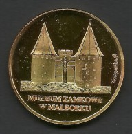 Poland, Jeton, Malbork, Castle, UNESCO - Tokens & Medals