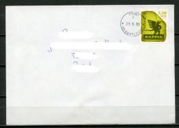 ESTONIA Estland Eesti Postal Cover Cancelled 2009 - Stamp Räpina Paper Mill, 275th Anniversary - Estonia
