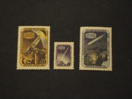RUSSIA-1957 GEOFISICO 3 Valori, In Quartine(blocks Of Four), Lievi Difetti Nella Gomma - NUOVI(++) - 1923-1991 USSR