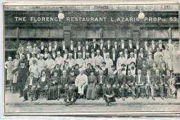 POST CARD ENGLAND LONDON THE FLORENCE RESTAURANT 1908 - London