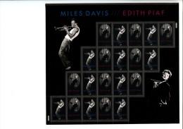 236402441 Gf USA POSTFRIS MINT NEVER HINGED POSTFRISCH EINWANDFREI  SCOTT 4692 4693 Pane Edith Piaf Miles Davis - Nuevos