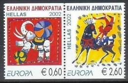 EUROPA -CEPT 2002 - GRECE - 2 Val Paire Du Carnet NEUF ** (MNH) LE CIRQUE // CV €10 - 2002