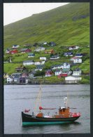 Faroe Islands Study Circle Postcard M/S Olavur At Vestmanna Mailboat - Féroé (Iles)