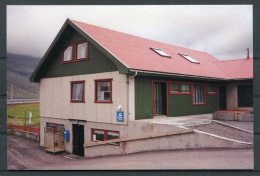 Faroe Islands Study Circle Postcard Kollafjordur Post Office - Färöer