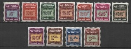 French Equatorial Africa - AEF (1937) Yv. Tx. 1/11  / - Neufs