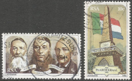 South Africa. 1980 Centenary Of Paardekraal Monument. Used Complete Set SG 486-487 - South Africa (1961-...)