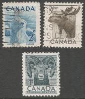 Canada. 1953 National Wildlife Week. Used Complete Set. SG 447-9 - 1952-.... Reign Of Elizabeth II