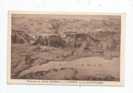 Cp , 74 , Panorama Du PAYS ROMAN Vu Du SALEVE Sur Les MONTS JURA , Vierge , Carte Géographique - Autres Communes