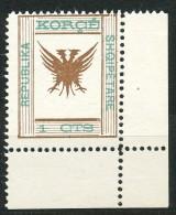 Albanien, Lokalausgaben Korça - Mi.Nr.   3  Postfrisch - Albania