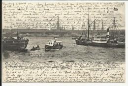 Gruss Aus HAMBURG , Blick Vom Afrikaquai Nach Dem Strandhafen , 1904 , CPA ANIMEE - Other
