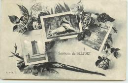 DEP 90 BELFORT SOUVENIR DE ... 3 VUES - Belfort - Ville