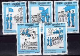 Familie Und Pfadfinderlager Der UNO Kambodscha 1360/4 Plus Block 198 ** 13€ Bloque Hoja Bloc M/s Scout Sheet Bf Cambodge - Movimiento Scout