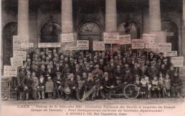 Cpa  14  Caen Meeting Du 10 Novembre 1929..federation Nationale Des Mutiles Du Travail - Caen