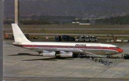 Boeing B 707 321B Aerei Aircraft PLUNA  Airlines Aviation B 707 Aiplane B-707 Manchester Airport - 1946-....: Era Moderna