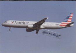 Airbus A 321-200 Aircraft AMERICAN AIRLINES  A321 Avion Swiss Air Aviation A321 Airplane A-321 Luft LOS ANGELES LA - 1946-....: Era Moderna