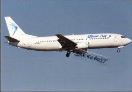 Boeing 737-430 Aircraft  BLUE AIR YR-BAS Airlines B 737 Avion Aviation B737 Aiplane B-737 Luft - 1946-....: Era Moderna