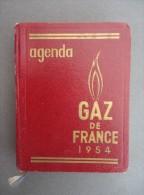 AGENDA - GAZ De FRANCE  - 1954 - Publicités - Livres, BD, Revues