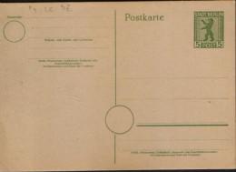 Germany/ Soviet Zone - Postal Stationery Postcard Unused - P3 ,5pf ,green, Cream-colored Paper - Zone Soviétique