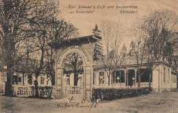 HÜTTELDORF Karl Scheuer's Cafe Und Restauration >Zur Knödelhütte< Karte Gel.1921 V.Wien N. Mistelbach - Unclassified