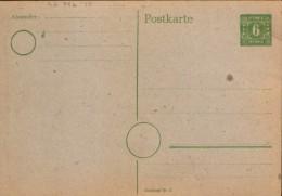 Germany/ Soviet Zone - Postal Stationery Postcard Unused - P5b ,6pf ,green,  Gray Paper - Zone Soviétique