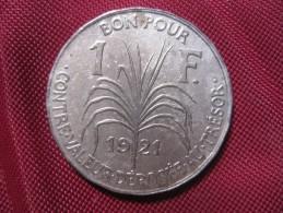 COLONIE DE LA GUADELOUPE .BON POUR 1 FRANC 1921 - Colonias