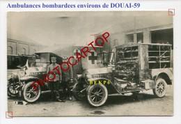 AMBULANCES-AUTO-B.E.K-P.6-DOUAI-?-CARTE PHOTO Allemande-Guerre 14-18-1 WK-France-59- - Douai