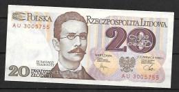 Pologne 20 Zlotych (B 8144952)( Ce Billet N´a Jamais Circulé - Pologne