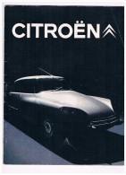 Catalogue Citro�n 1969 - DS / 16 pages - 2 scans