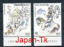 "SAN MARINO Mi.Nr. 1249-1250 EUROPA CEPT ""Historische Ereignisse "" 1982- Used - Europa-CEPT"