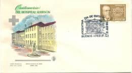 CENTENARIO DEL HOSPITAL RAWSON FDC AÑO 1968 ARGENTINA TBE
