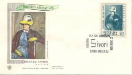 PINTORES ARGENTINOS EDUARDO SIVORI FDC AÑO 1968 ARGENTINA